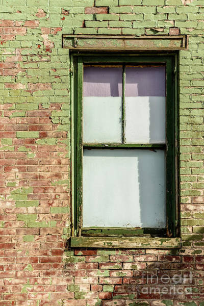 Photograph - Green Painted Brick by Alana Ranney