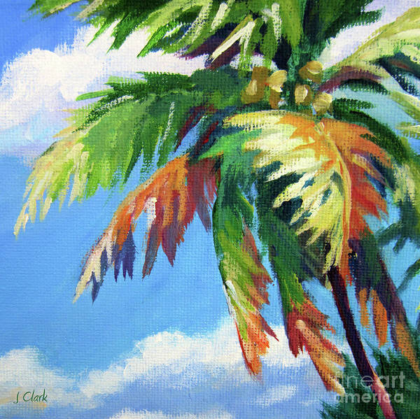Trinidad Wall Art - Painting - Green Palm  by John Clark