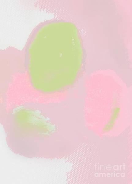 Wall Art - Mixed Media - Green Pink Abstract - Nursery Art By Vesna Antic by Vesna Antic