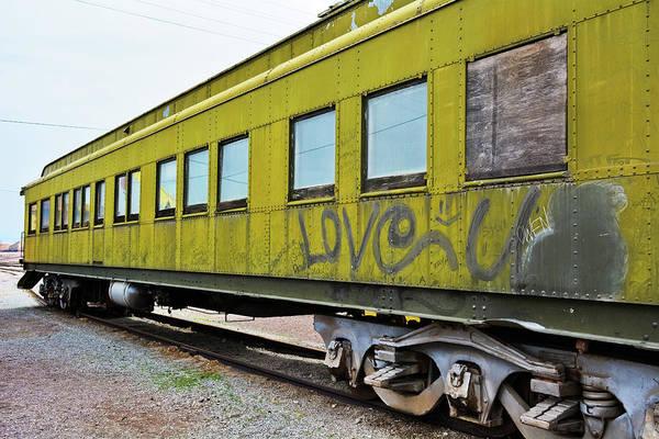 Photograph - Green Railroad Car by Kyle Hanson