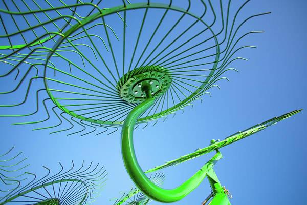 Hay Rake Photograph - Green Rake by Todd Klassy