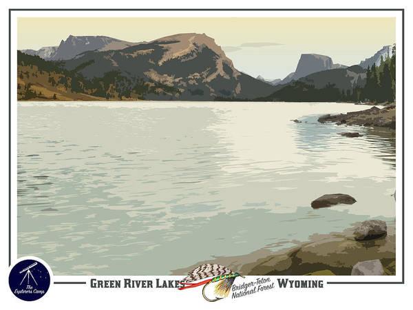 Teton National Park Digital Art - Green River Lakes Travel Poster by John Ulrich
