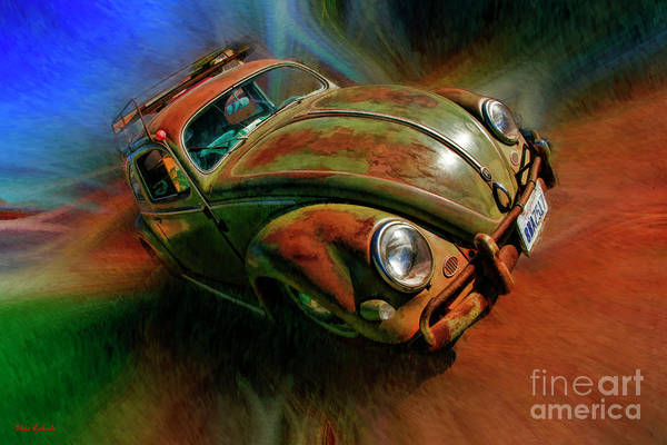 Photograph - Green Rusted Volkswagen Bug  by Blake Richards