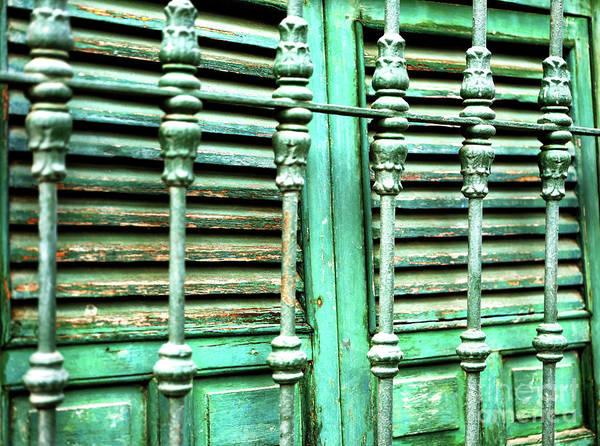 Photograph - Green Shutters In Seville by John Rizzuto