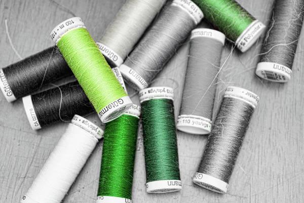 Photograph - Green Silk Thread by Sharon Popek