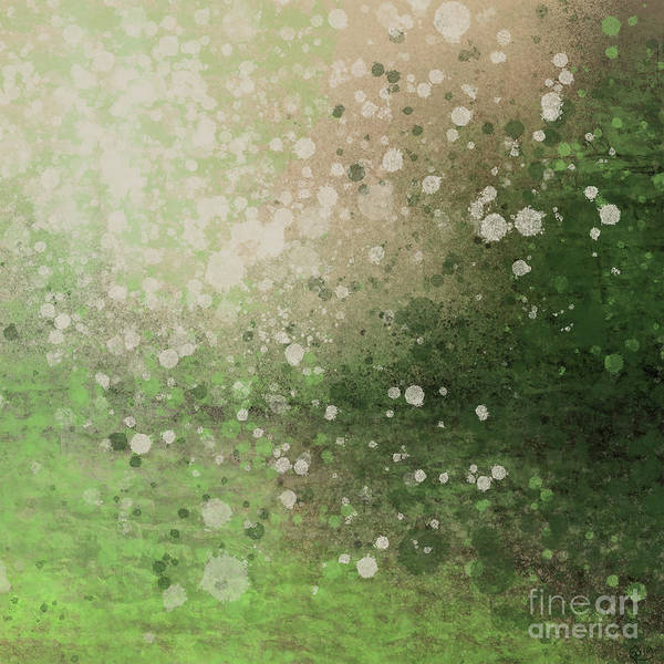 Painting - Green Splatter by Go Van Kampen