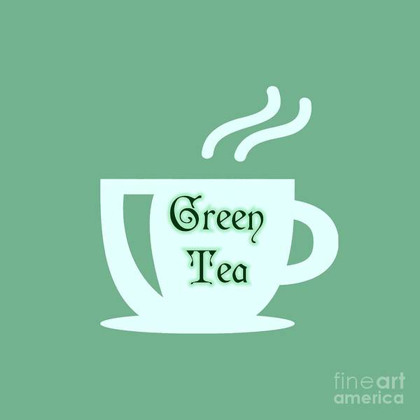 Digital Art - Green Tea  by Rachel Hannah
