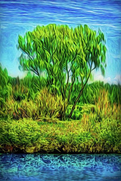 Digital Art - Green Tree Serenity by Joel Bruce Wallach