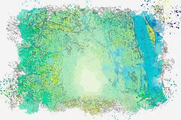 Painting - Green Trees -  Watercolor By Adam Asar by Adam Asar