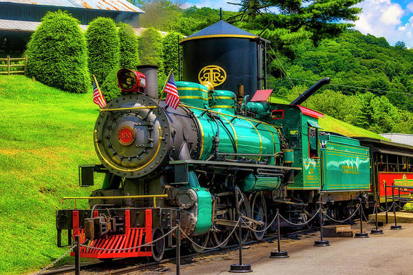 Wall Art - Photograph - Green Tweetsie Steam Train by Garry Gay