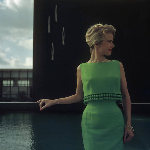 Vertical Photograph - Green Two-piece by Slim Aarons