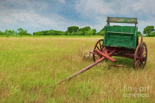 Photograph - Green Wagon And Field by Patti Schulze