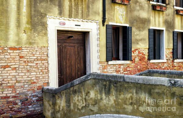 Photograph - Green Wall Venice by John Rizzuto