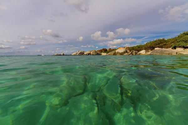 British Virgin Islands Photograph - Green Water Of Caribbean Sea by Lotus Carroll
