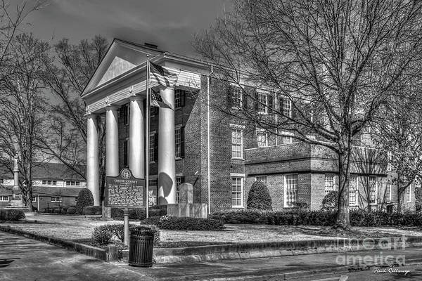 Photograph - Greene County Court House B W Historic Winter Court House Art by Reid Callaway