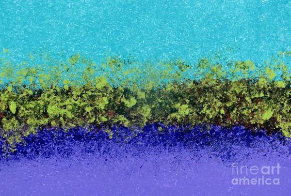 Painting - Greenery With Purple by Corinne Carroll