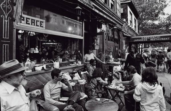 Photograph - Greenwich Village Street Scene 1974 by Robert Ullmann