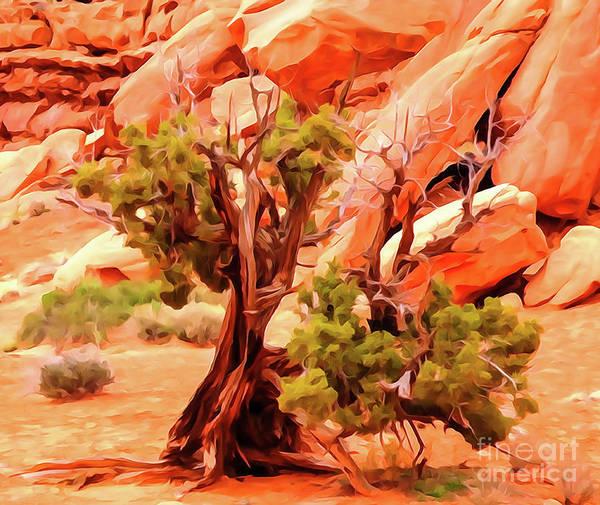 Greeter Pine At Park Avenue Art Print by Bob Lentz