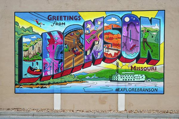 Wall Mural Photograph - Greetings From Branson Missouri  by Gregory Ballos