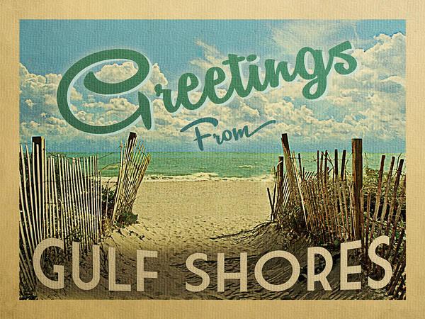 Gulf Digital Art - Greetings From Gulf Shores Beach by Flo Karp