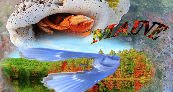 Eating Mixed Media - Greetings From Maine by Mike Breau