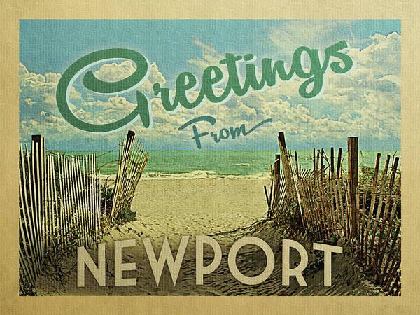 Wall Art - Digital Art - Greetings From Newport Beach by Flo Karp