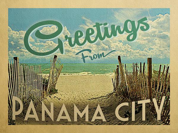 Panama Digital Art - Greetings From Panama City by Flo Karp