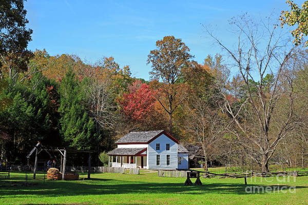 Wall Art - Photograph - Gregg Cable House In Cades Cove Historic Area Of The Smoky Mountains by Louise Heusinkveld