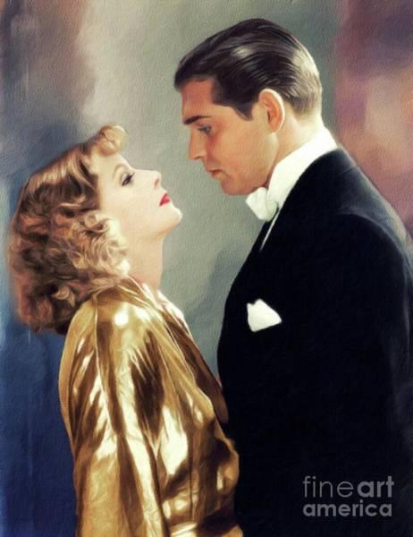 Wall Art - Painting - Greta Garbo And Clark Gable by John Springfield