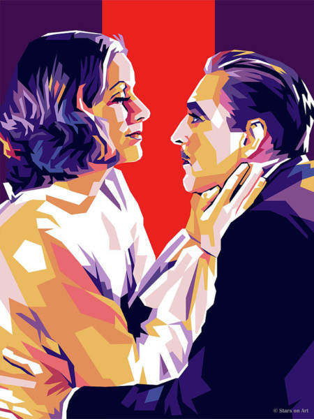 Digital Art - Greta Garbo And John Barrymore by Stars on Art