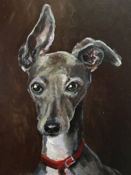Wall Art - Painting - Greyhound by Susan Elizabeth Jones