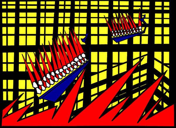 Digital Art - Gridismjr 2 Sailors Sea Waves by Artist Dot