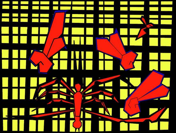 Digital Art - Gridismjr 8 Spiders Web by Artist Dot