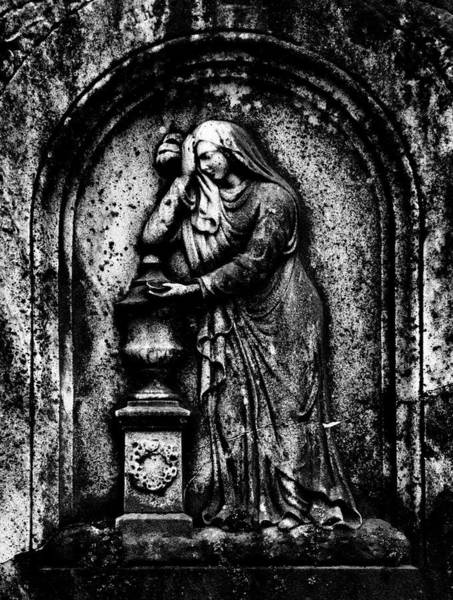 Photograph - Grieving Wife Tombstone by Paul W Faust - Impressions of Light