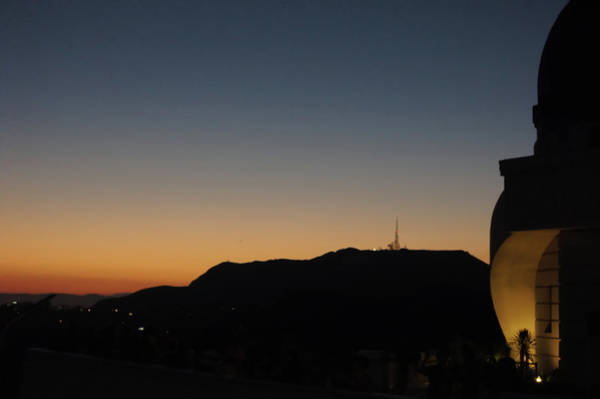 Wall Art - Photograph -  Griffith Park At Sunset  by Art Spectrum