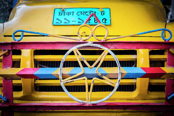 Wall Art - Photograph - Grille Of The Old, Yellow Truck by Robert Pastryk