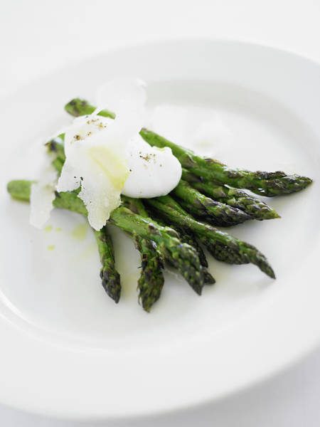 Wall Art - Photograph - Grilled Asparagus With Parmesan, Black by Thomas Barwick