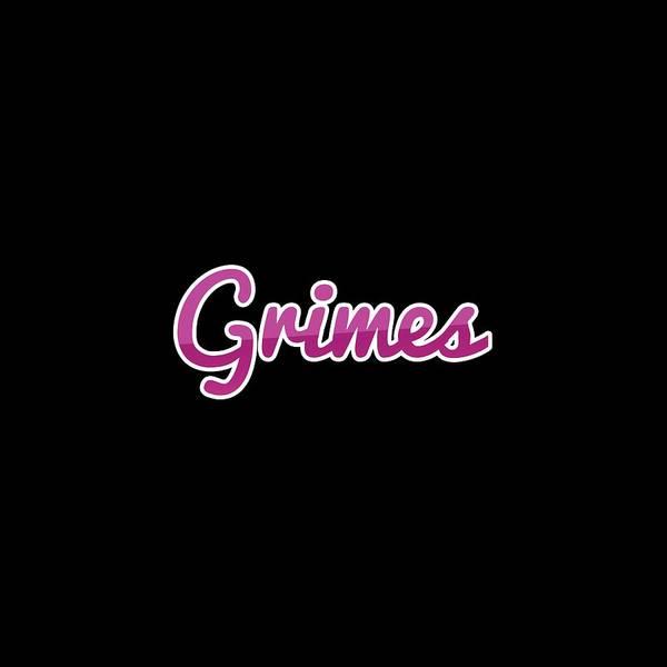Grime Digital Art - Grimes #grimes by TintoDesigns