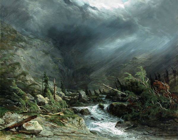 Wall Art - Painting - Grimsel Pass by Alexandre Calame