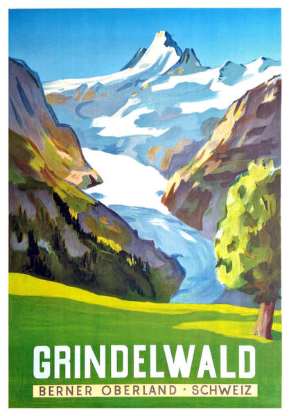 Spring Mountains Digital Art - Grindelwald by Long Shot