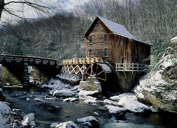 Wall Art - Photograph - Grist Mill And Glade Creek, Badcock Sp by David Davis