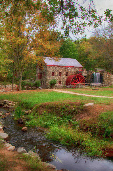 Photograph - Grist Mill In Fall by Joann Vitali