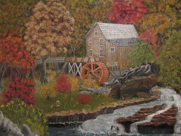Wall Art - Painting - Gristmill In The Forest by Melvin LaTulip