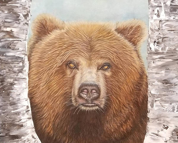 Grizzlies Mixed Media - Griz by Jennifer Campbell Brewer