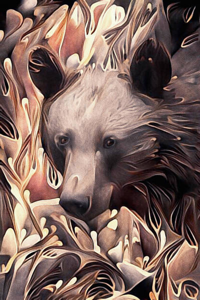 Grizzlies Mixed Media - Grizzled by Susan Maxwell Schmidt