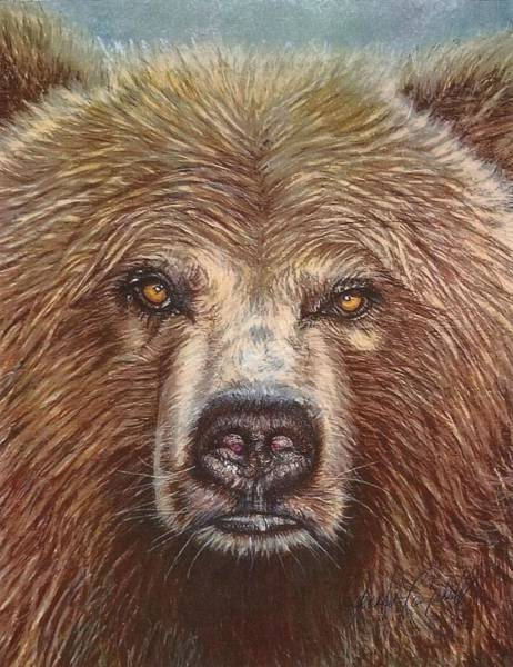 Grizzlies Mixed Media - Grizzly Bear by Jennifer Campbell Brewer