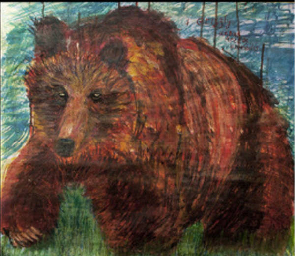 Mixed Media - Grizzly Bear by Siobhan Dempsey