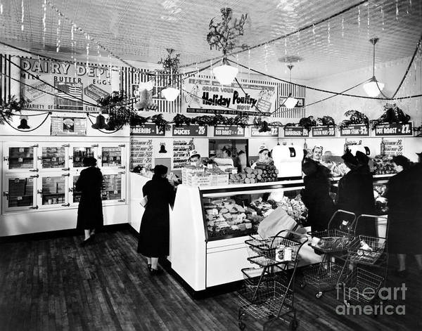 Wall Art - Photograph - Grocery Store, C1938 by Granger