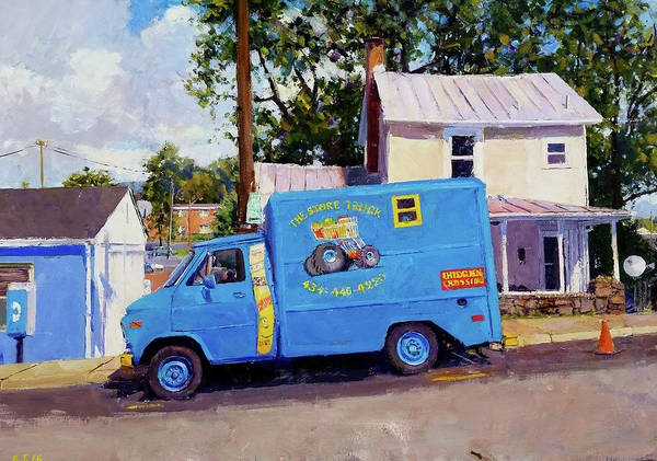 Wall Art - Painting - Grocery Truck by Edward Thomas
