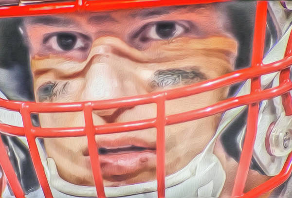 Facemask Digital Art - Gronk by Aaron Geraud